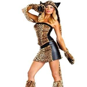 Be Wicked 6 piece Lusty Leopard Costume
